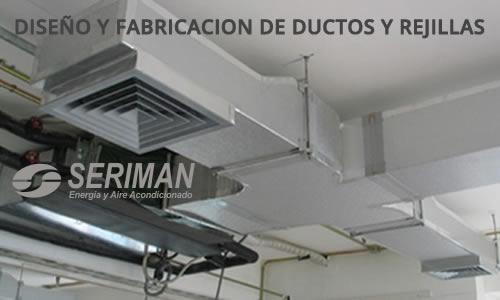 fabricacion ductos y rejillas aire acondicioando y equipos